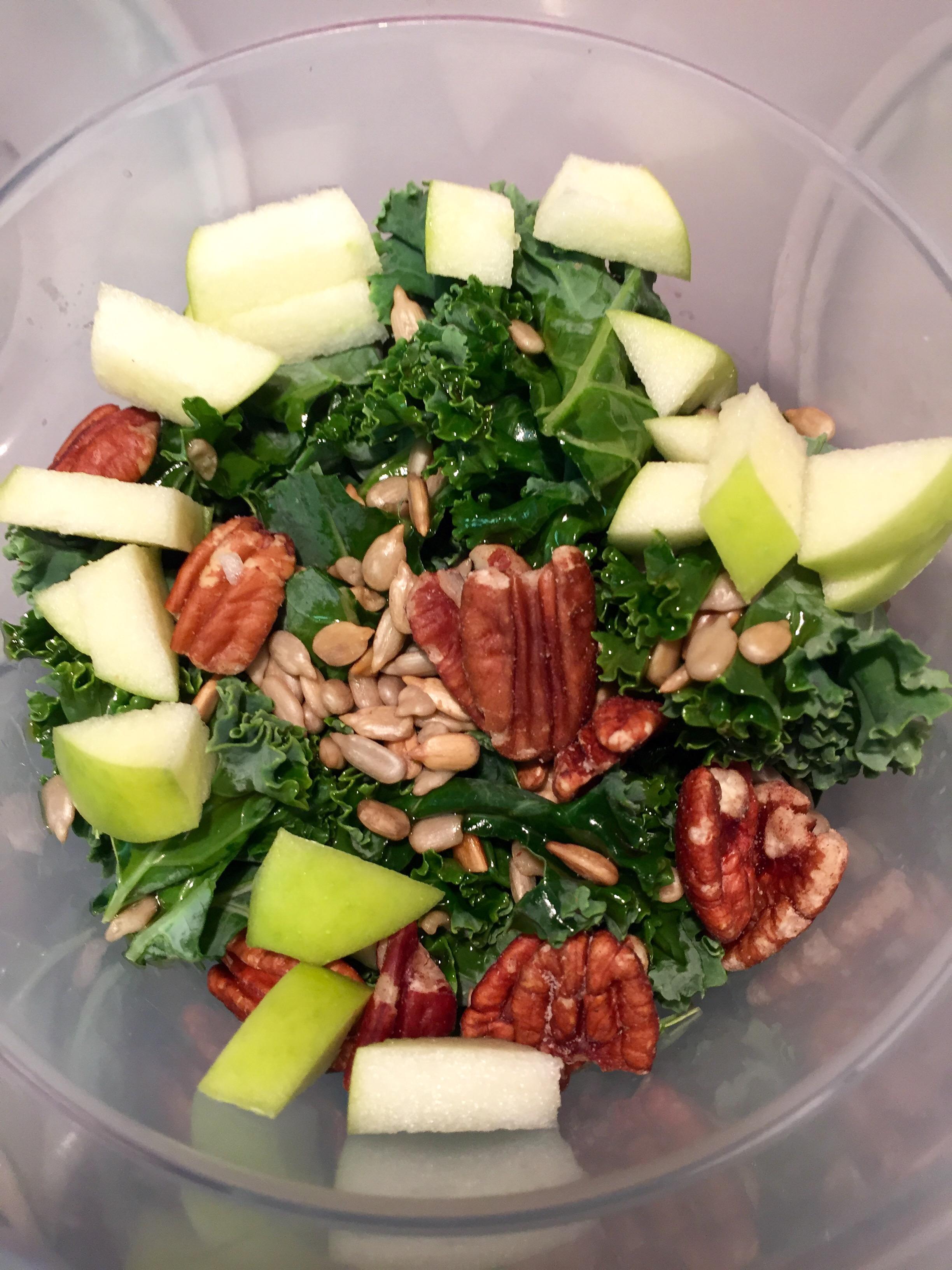 kale apple crunch salad
